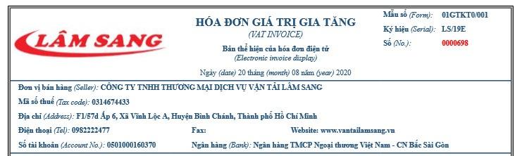 Liên hệ công ty vận tải Lâm Sang
