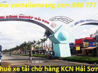 Cho thuê xe tải chở hàng KCN Hải Sơn