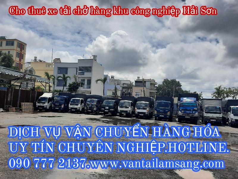 Cho thuê xe tải chở hàng KCN Tân Đức-Dịch vụ vận chuyển hàng hóa chuyên nghiệp uy tín