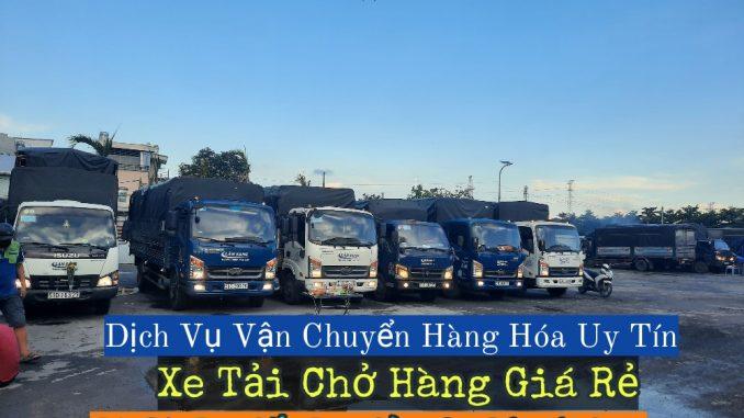Cho thuê xe tải chở hàng kcn Lê Minh Xuân
