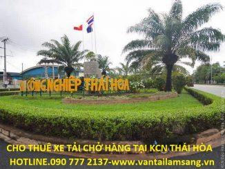Cho thuê xe tải chở hàng KCN Thái Hòa