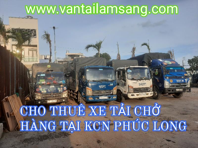 Cho thuê xe tải chở hàng tại KCN Phúc Long