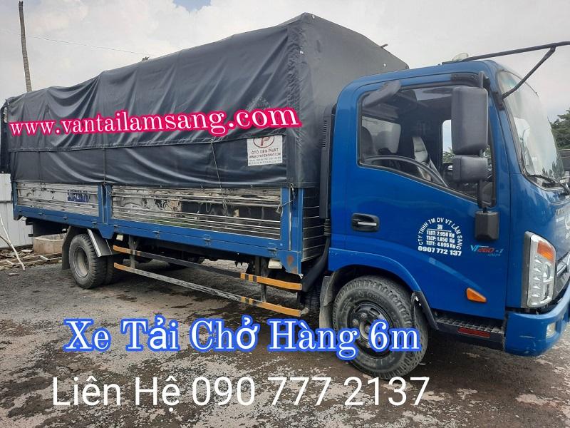 Xe tải chở hàng 2 tấn thùng 6m