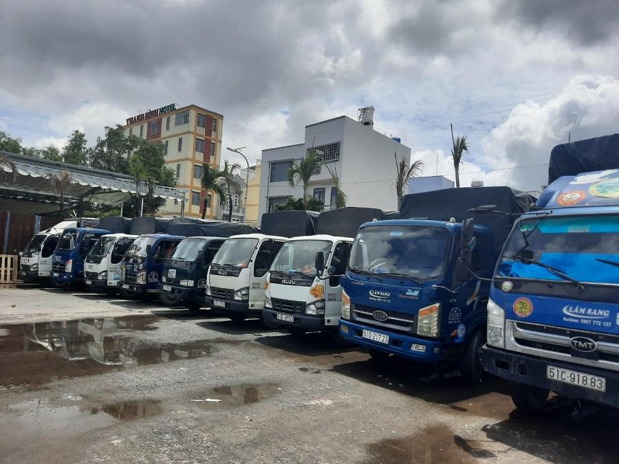 Xe Tải Chở Hàng Khu Chế Xuất Tân Thuận