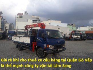 Cho Thuê Xe Cẩu Hàng Quận Gò Vấp
