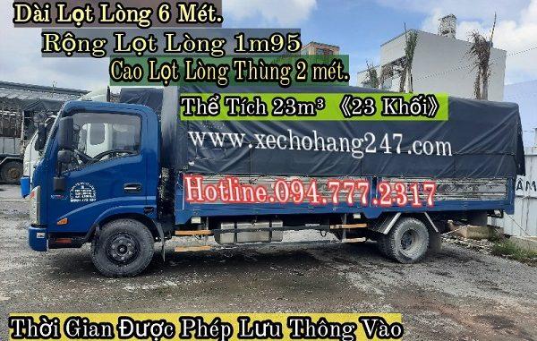 Cho Thuê Xe tải chở hàng thùng dài 6 mét