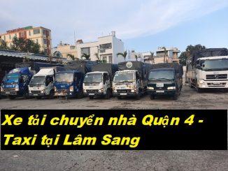 Xe tải chuyển nhà Quận 4 - Taxi tại Lâm Sang