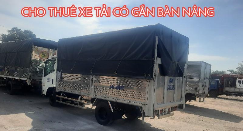 Cho Thuê xe tải có bửng nâng