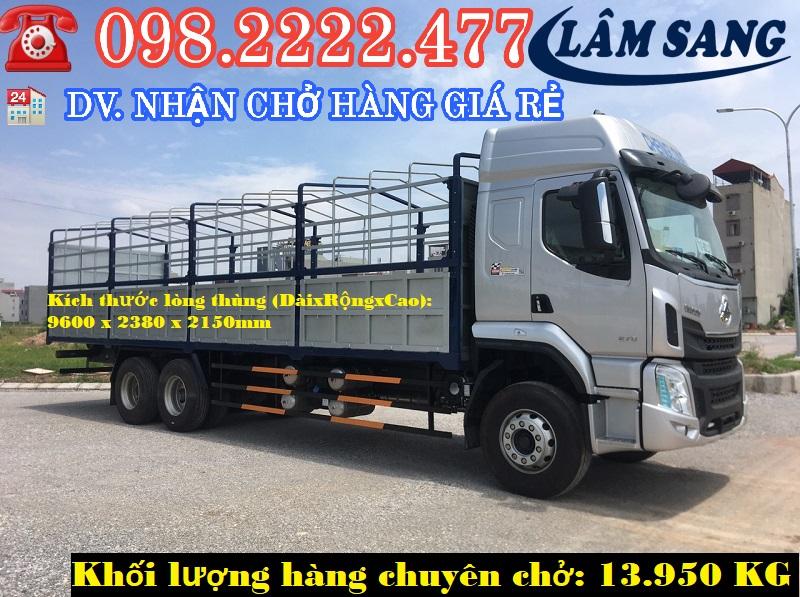 Nhận Chở Hàng 15 tấn xe tải 3 chân
