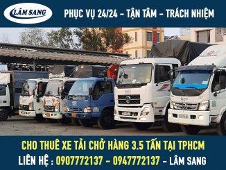 Cho thuê xe tải chở hàng 3.5 tấn giá rẻ