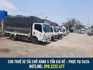 Cho thuê xe tải chở hàng 5 tấn giá cước rẻ