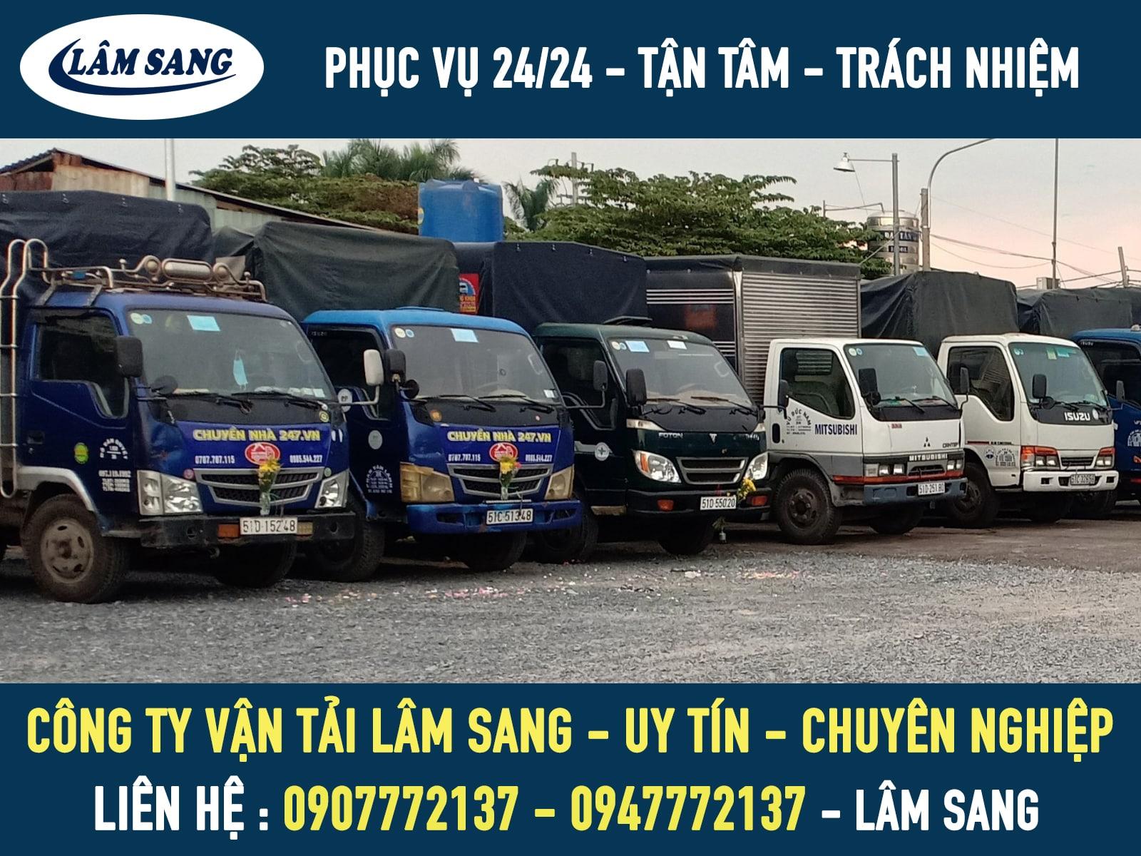 Cty vận tải chở hàng Lâm Sang