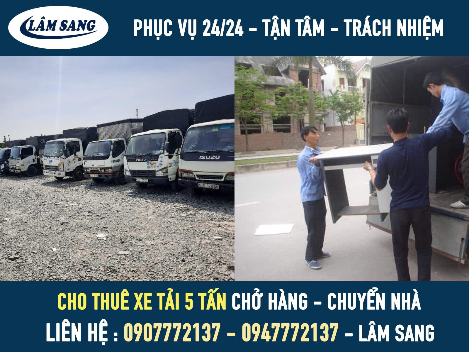 Cho thuê xe tải chở hàng 5 tấn giá rẻ