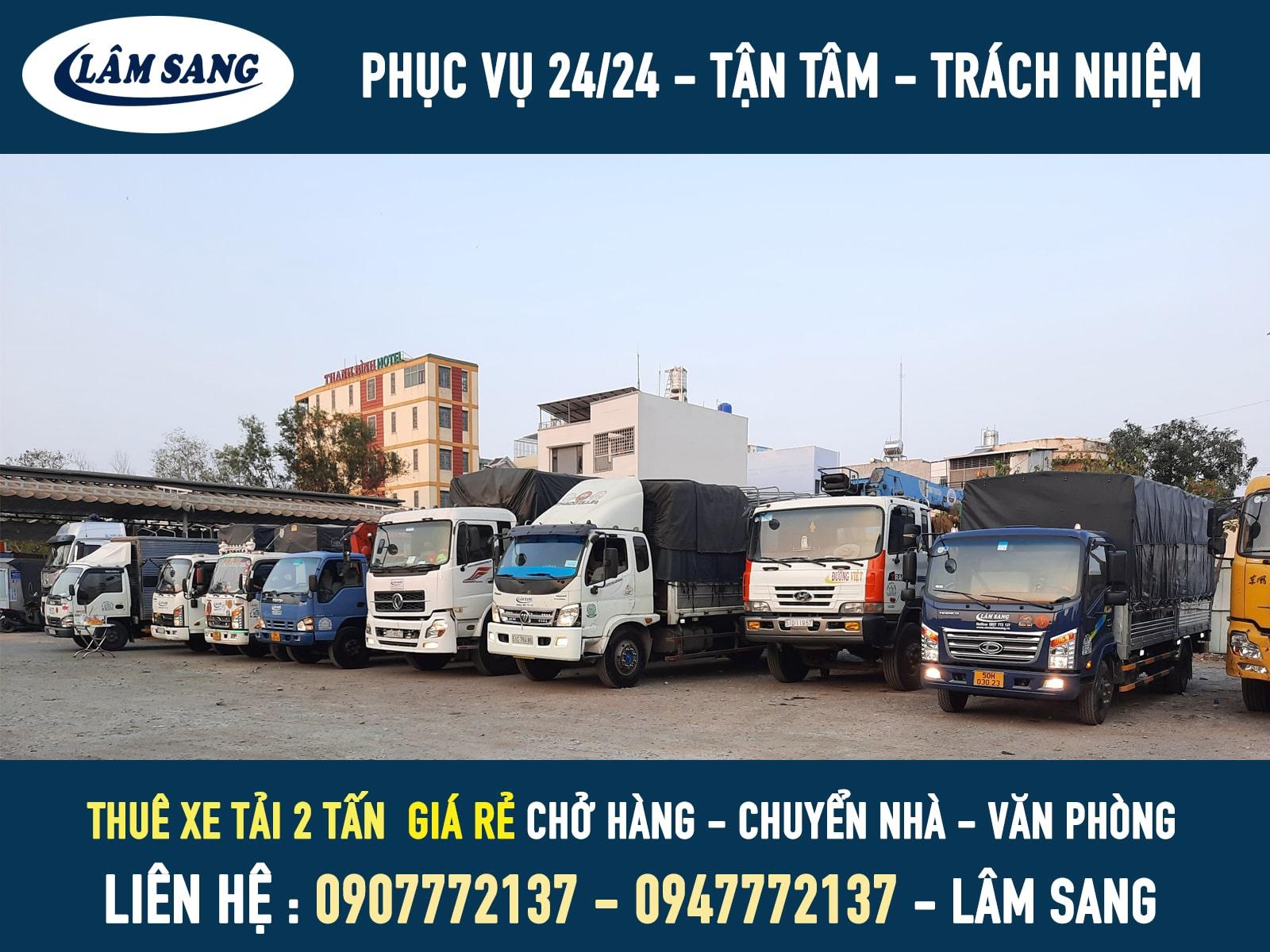Thuê xe tải 2 tấn giá rẻ tại tphcm - vận tải lâm sang