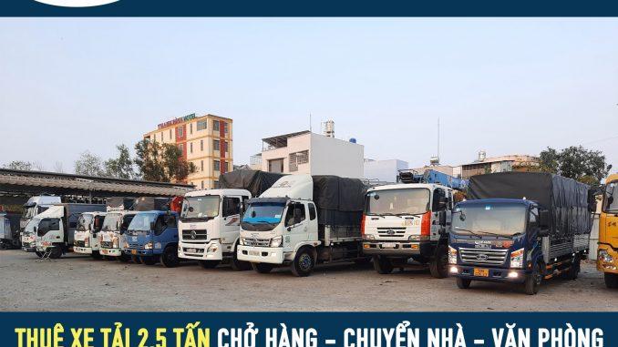 Thuê xe tải 2.5 tấn giá rẻ - vận tải Lâm Sang giá rẻ tại tphcm