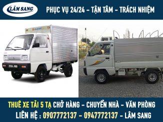 Thuê xe tải 5 tạ giá rẻ và phục vụ chuyên nghiệp
