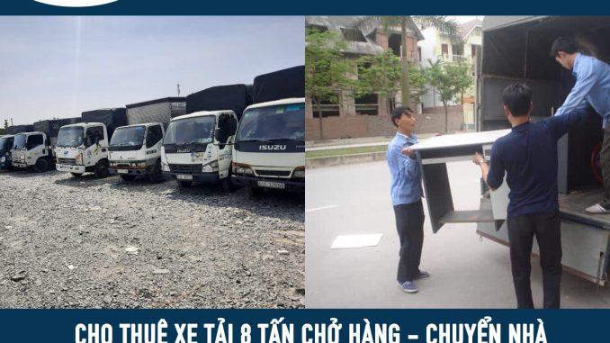 Thuê xe tải 8 tấn chở hàng tại tphcm đi tỉnh
