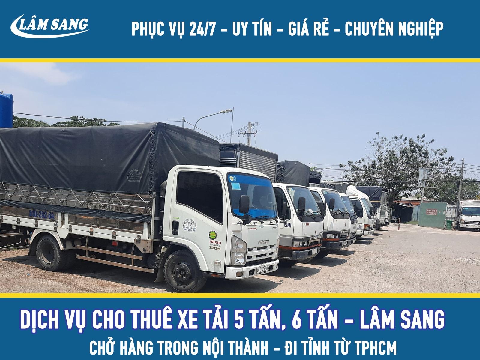 Cho thuê xe tải chở hàng 6 tấn giá rẻ tại tphcm