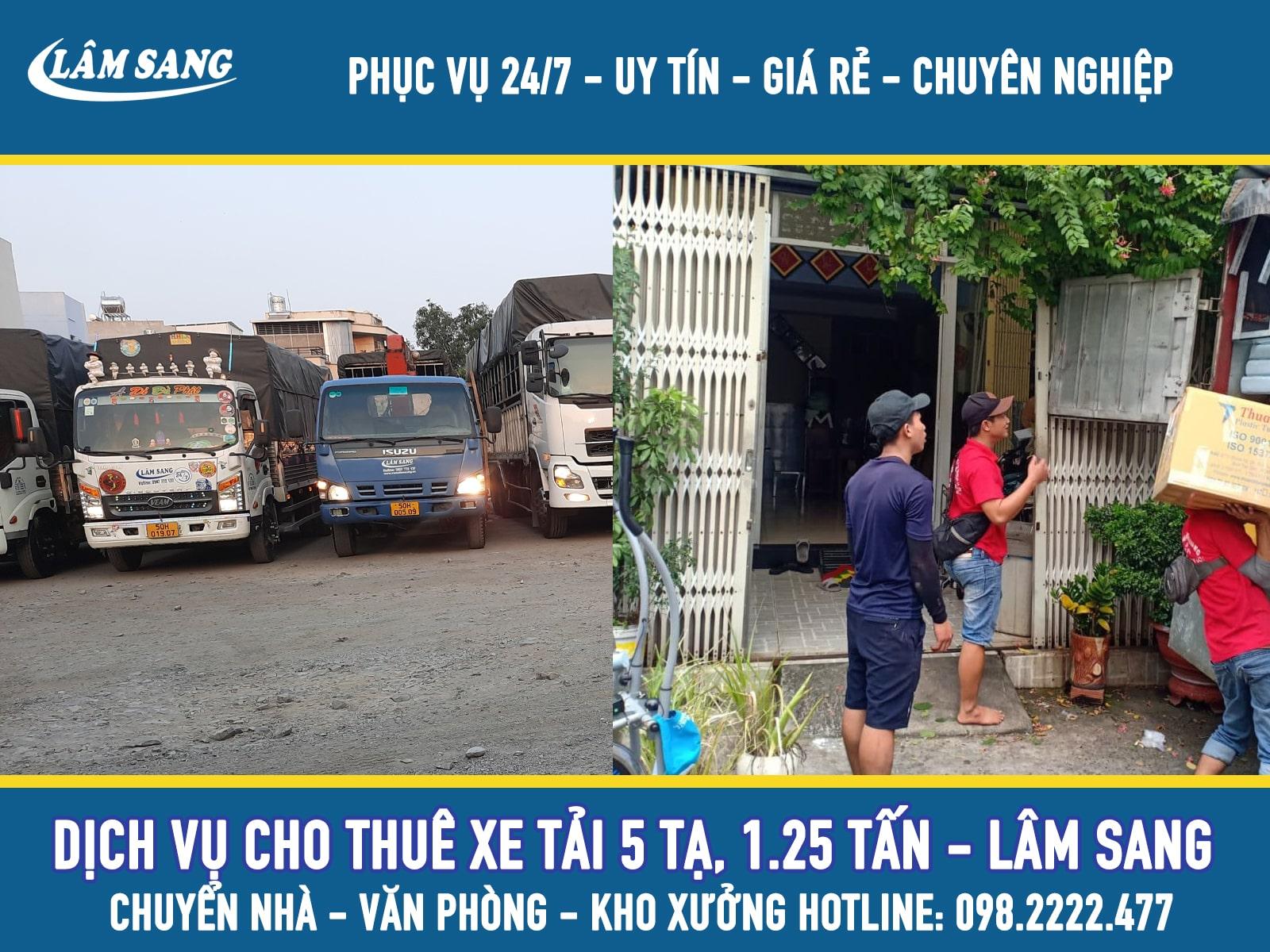 Cho thuê xe tải chở hàng 1.25 giao nhận hàng nội thành