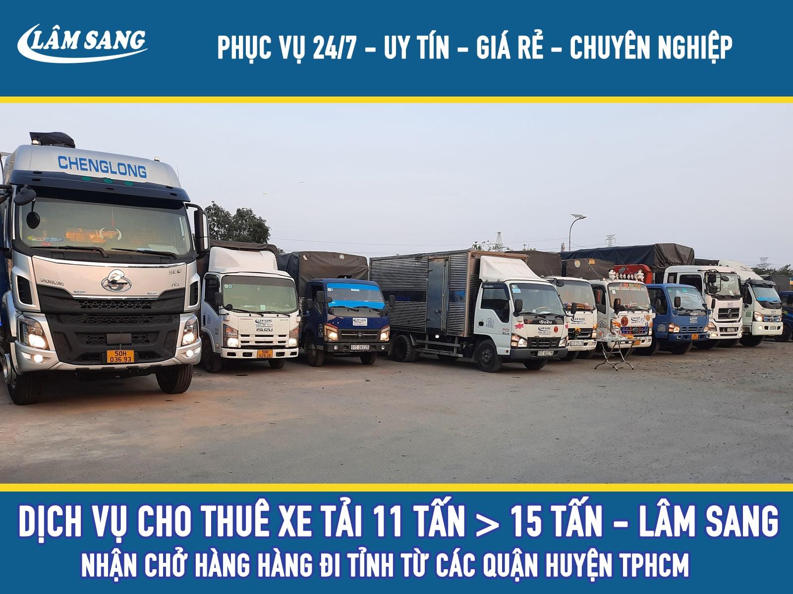 Cho thuê xe tải chở hàng 15 tấn đi tỉnh tại tphcm