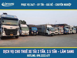 Cho thuê xe tải chở hàng 2 tấn, 2.5 tấn tại tphcm - Lâm Sang