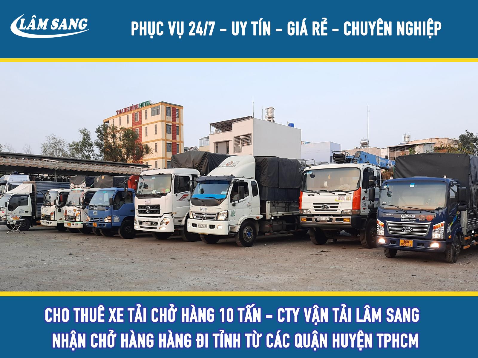 Cho Thuê xe tải 10 tấn giá rẻ tại tphcm - Lâm Sang