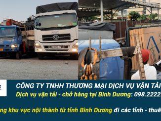 Công ty dịch vụ vận tải hàng hóa Tại Bình Dương
