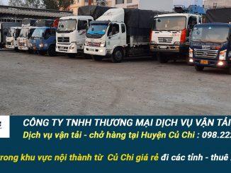Dịch vụ vận tải hàng hóa Huyện Củ Chi